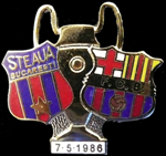 Pin #4 Final de la Copa de Europa 1986, la final de Sevilla, FC Barcelona vs Steaua de Bucarest
