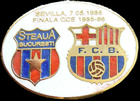 Pin #2 Final de la Copa de Europa 1986, la final de Sevilla, FC Barcelona vs Steaua de Bucarest