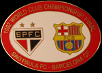 Pin #2 de la Final Intercontinental, Toyota Cup de l'any 1992. Sao Paulo vs FC Barcelona