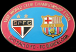 Pin #5 de la Final Intercontinental, Toyota Cup de l'any 1992. Sao Paulo vs FC Barcelona