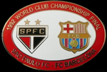 Pin #6 de la Final Intercontinental, Toyota Cup de l'any 1992. Sao Paulo vs FC Barcelona