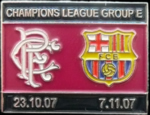 Pin del Bar�a - Rangers, UEFA Champions League 2008