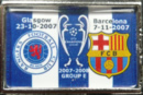 Pin del FC Barcelona - Glasgow Rangers, UEFA Champions League 2008