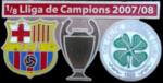 Pin del FC Barcelona - Celtic Glasgow, UEFA Champions League 2008